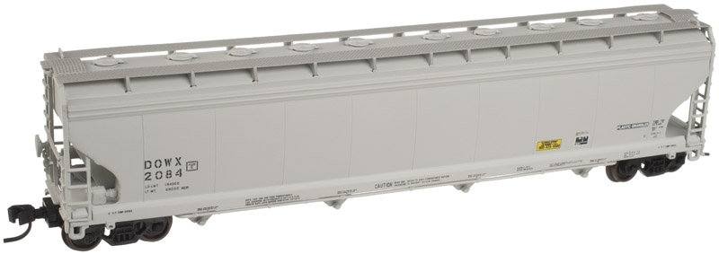 ACF 5701 Cubic Foot Plastics 4 Bay Covered Hopper - Dow Chemical (50001467)
