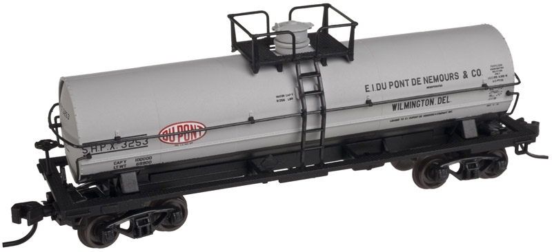 11,000 Gallon Tank Car with Platform - DuPont (50001578)