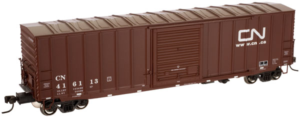 50' Precision Design Rib Side Boxcar - Canadian National  (1369-1)