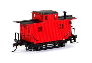 Bobber Caboose - Painted Red and Unlettered (18449)