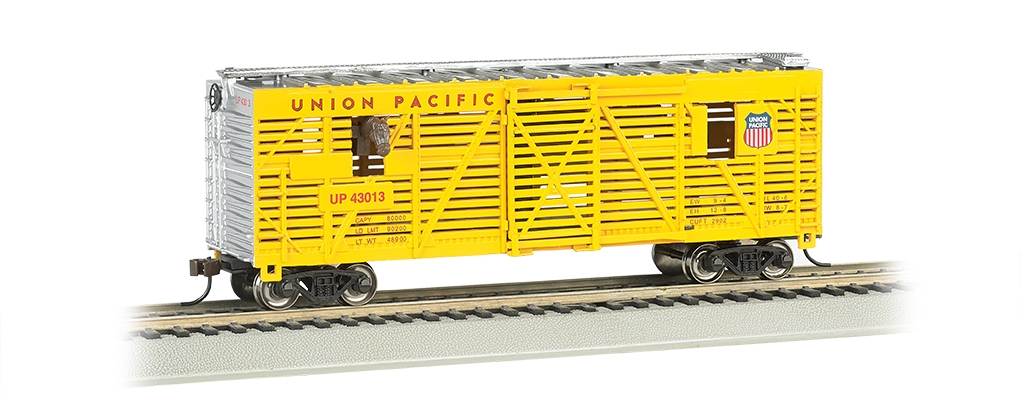 40' Animated Stock Car with Horses - Union Pacific (19701)