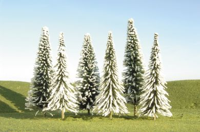 "3"" - 4"" Pine Trees with Snow [9 Pieces] (32102)"