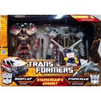 Transformers Hunt for the Decepticons Series Voyager & Deluxe Class Starscream's Assault (Mudflap and Starscream)