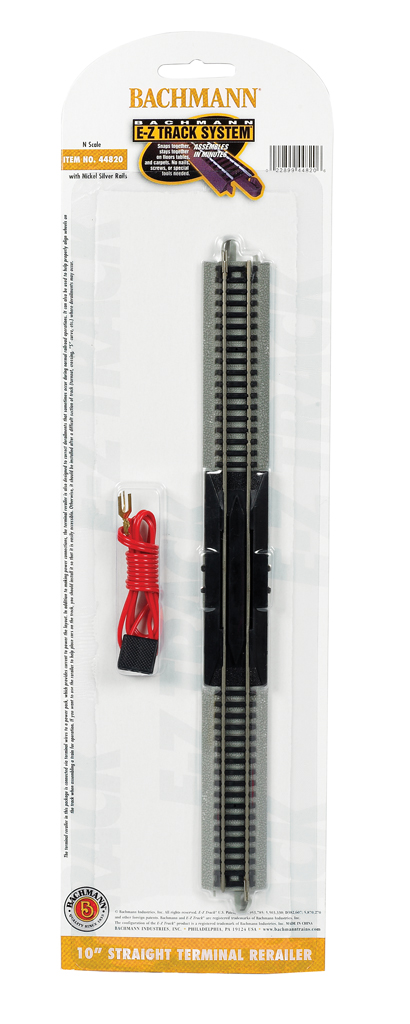 "10"" Straight Terminal Rerailer with Wire (44820)"