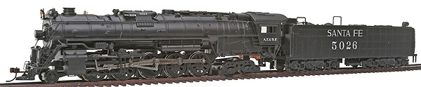 2-10-4 Santa Fe Steam Loco with Tender DCC (51204)