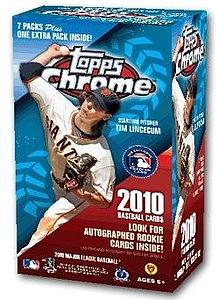 2009-10 MLB Topps Chrome Blaster Box
