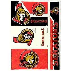 Static Cling Window Decals: Ottawa Senators