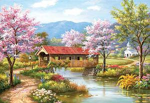 A Covered Bridge in Spring (10156)