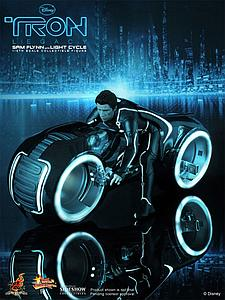 Tron: Legacy (2010) 1/6 Scale Figure Sam Flynn with Light Cycle
