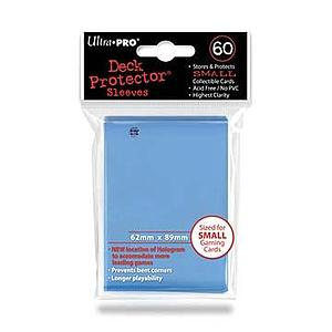 Light Blue Small Card Sleeves (62mm x 89mm)
