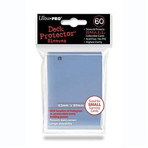 ULTRA PRO Deck Protector Sleeves 60 CT Clear Small (62mm x 89mm)