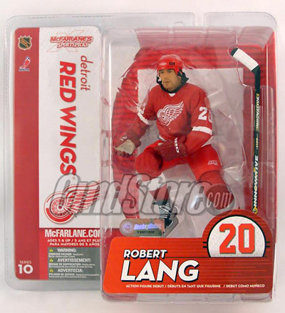 NHL Sportspicks Series 10 Robert Lang (Detroit Red Wings) Red Jersey Variant