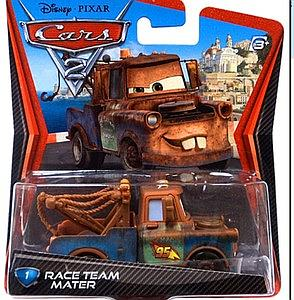 Mattel Disney Cars Die-Cast 1:55 Scale Toy: Race Team Mater #1