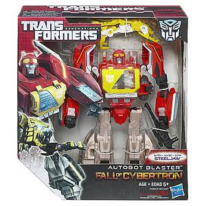 Transformers Generations Fall of Cybertron Voyager Class: Autobot Blaster with Steeljaw (Canadian Packaging)