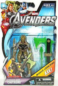 Marvel Universe Avengers Movie 4 Inch: Cosmic Axe Chitauri (Missile Launching Axe) [US Packaging]