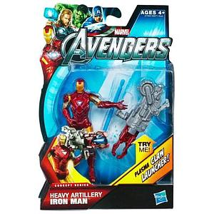 Marvel Universe Avengers Movie 4 Inch: Heavy Artillery Iron Man (Plasma Claw Launcher)