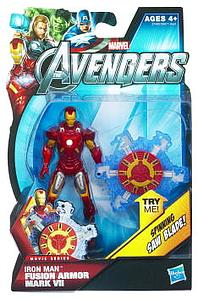 Marvel Universe Avengers Movie 4 Inch: Fusion Armor Iron Man Mark VII (Spinning Saw Blade) [US Packaging]