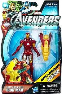 Marvel Universe Avengers Movie 4 Inch: Shatterblaster Iron Man (Wrist Mounted Launcher)