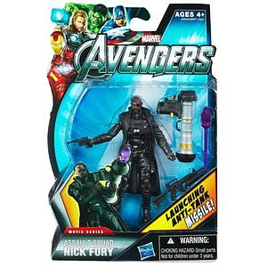 Marvel Universe Avengers Movie 4 Inch: Assault Squad Nick Fury (Launching Anti-Tank Missiles)