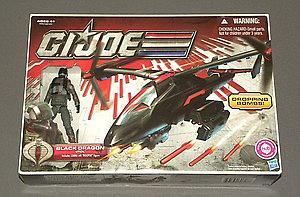 "G.I. Joe 30th Anniversary 3 3/4"" w/ Bravo Vehicle: Black Dragon VTOL"