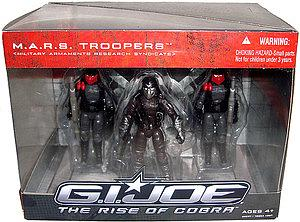 "G.I. Joe Movie The Rise of Cobra 3 3/4"" 3-Packs: M.A.R.S Troopers (Military Armaments Research Syndicate)"