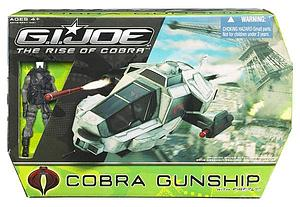 "G.I. Joe Movie The Rise of Cobra 3 3/4"" w/ Vehicle: Cobra Gunship"