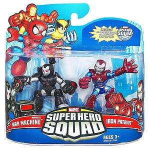 "Marvel Super Hero Squad 2"" 2-Pack: War Machine & Iron Patriot"