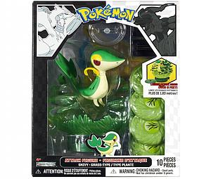 Pokemon Black White Series 1 Attack Figure: Snivy (10-Pieces)