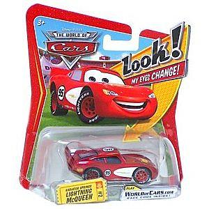 Mattel Disney Cars Die-Cast 1:55 Scale Toy: Radiator Springs Lightning Queen (Lenticular Eyes)