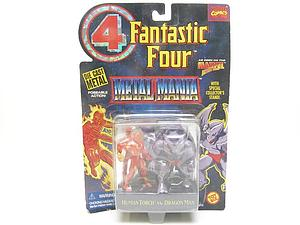 Toybiz Marvel Fantastic Four Die-Cast Metal Mania: Human Torch vs. Dragon Man