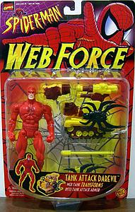 Toybiz Marvel Spider-Man Web Force: Tank Attack Daredevil