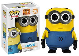Pop! Movies Despicable Me 2 Vinyl Figure Dave #36 (Vaulted)