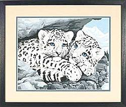 DIMENSIONS Paintworks Paint by Number Snow Leopard Cubs (91079)