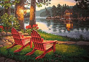 DIMENSIONS Paintworks Paint by Numbe Adirondack Evening (91357)