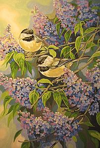 DIMENSIONS Paintworks Paint by Number Chickadees and Lilacs (91361)