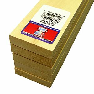Basswood Sheets 1/2x2x24 [5 Pack] (4117)