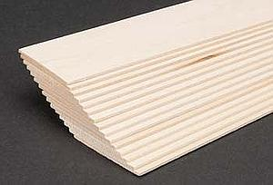 Basswood Sheets 1/16x2x24 [15 Pack] (4111)