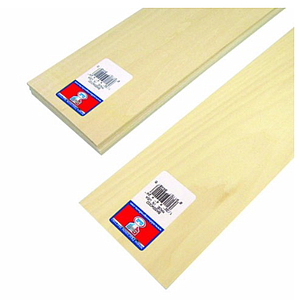 Basswood Sheets 1/32x4x24 [15 Pack] (4401)