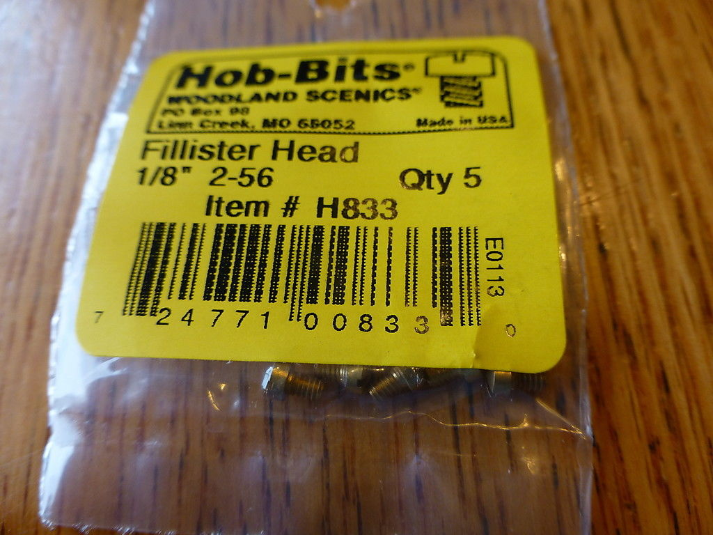 2-56 1/8In. Fillister Head Hob-Bits [5 Pack] (833)