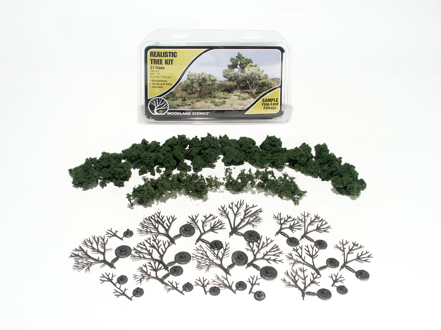 "3/4-3"" Realistic Tree Kit [21 Pack] (1111)"