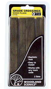 Grade Crossing - Wood Plank (1145)