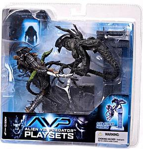 McFarlane Alien vs. Predator Movie Playsets Action Figure Alien Attacks Predator