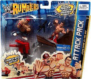 WWE Wrestling Rumblers Exclusive 2-Pack: John Cena vs. The Miz