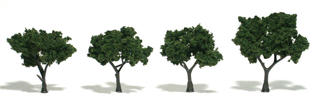 "2-3"" Medium Green Trees [4 Pack] (1504)"