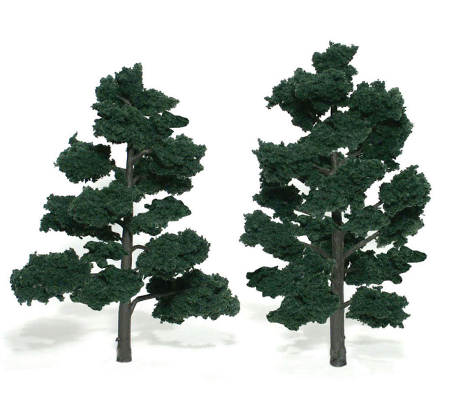 "6-7"" Dark Green Trees [2 Pack] (1517)"