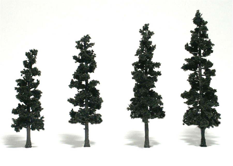 "4-6"" Conifer Green Pines [4 Pack] (1561)"