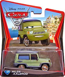 Mattel Disney Cars Die-Cast 1:55 Scale Toy: MIles Axlerod #17
