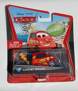 Mattel Disney Cars Die-Cast 1:55 Scale Toy: Cartney Brakin #40 (Chase)