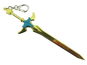 Sword Art Online Keychain Excalibur Gold Chrome