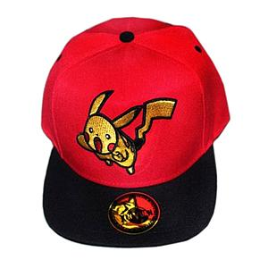 Pokemon Hat / Ballcap Pikachu Jumping Red (Snapback)